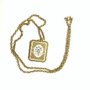 Franklin Mint Miniature Valentine Necklace Vintage